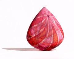 Ruby Clovis, Venetian Technique Blown Glass Sculpture