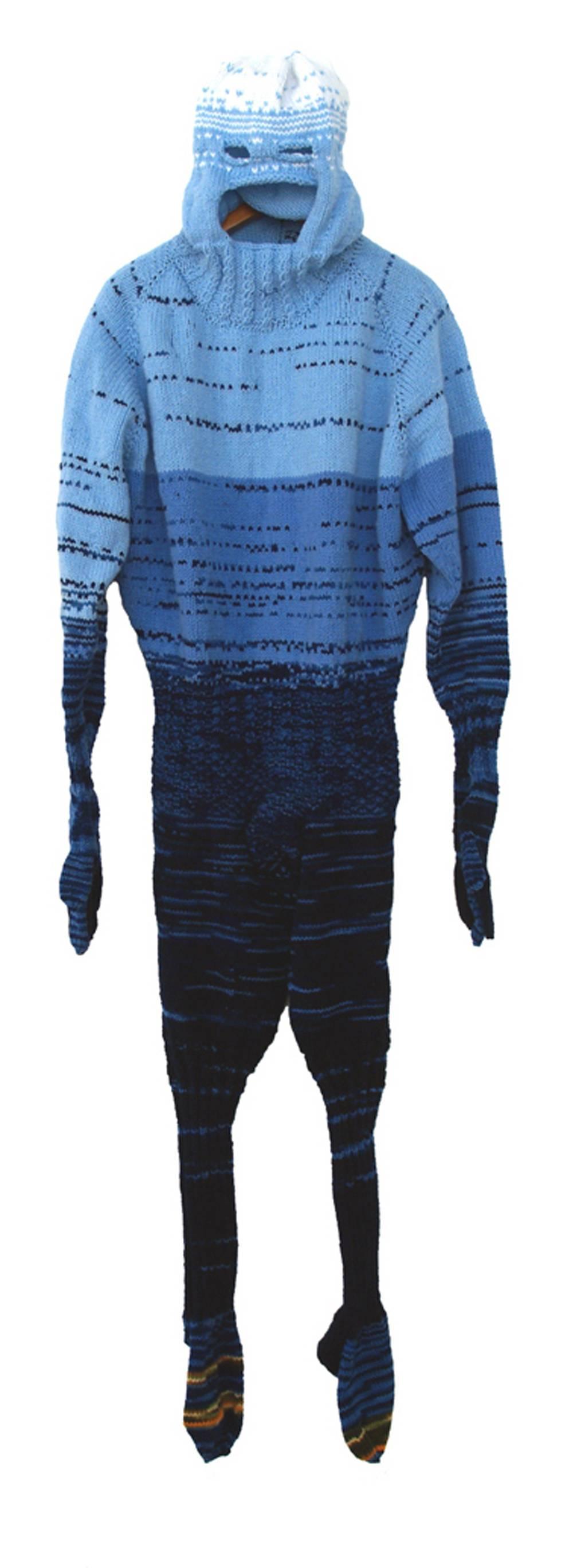 """A-Man"", Contemporary, Mixed Media, Sculpture, Knit, Crochet, Fabric, Fiber"