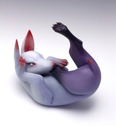 """Emotional Eating"", Hand Sculpted Porcelain Sculpture with Acrylic Paint"