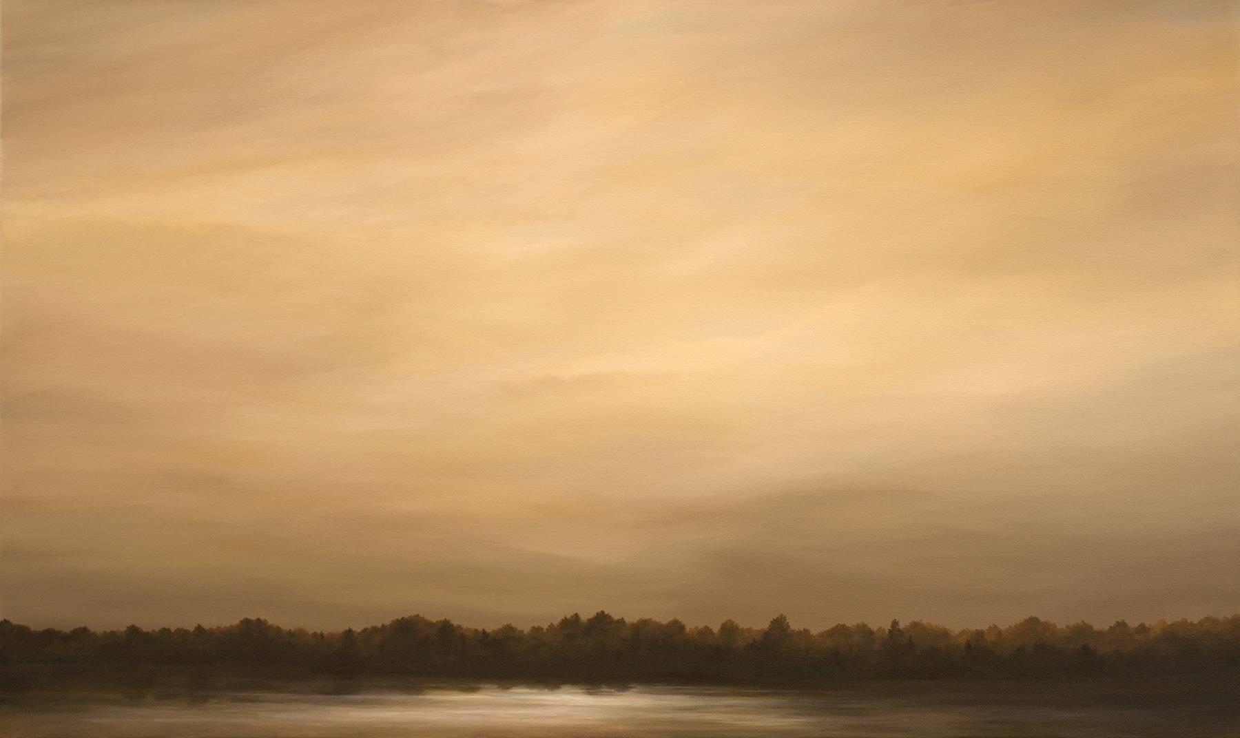 """River Scene"", Framed, Acrylic, Landscape, Painting, Canvas"