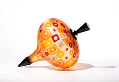 """""""Rio Top"""", Blown and Carved Glass Sculpture"""
