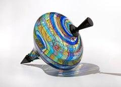 """Tapestry Top"", Blown Glass Sculpture"