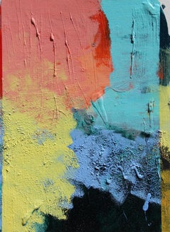 Contemporary Abstract Acrylic Painting on Canvas, Framed