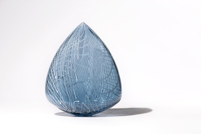 """Echo Clovis"", Contemporary Blown Glass Sculpture"