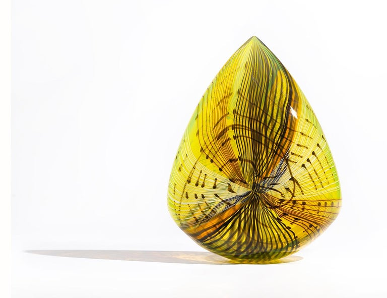 Mojave Clovis, Contemporary Blown Glass Sculpture with Patterning