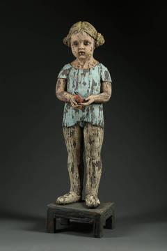 Little Dancer with Bird by Margaret Keelan, Ceramic Figure with Glaze, 2013