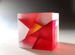 Red-Orange Core Cube