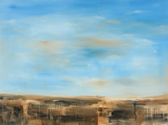 """Bad Lands"", Contemporary, Abstract, Landscape, Painting, Canvas, Earth Tones"
