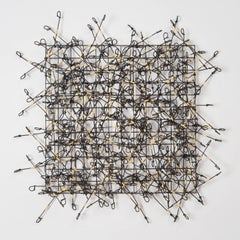 """Circle Grind No. 3"", Contemporary Mixed Media Wall Sculpture Composed of Metals"