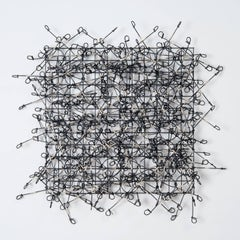 """Circle Grid No. 4"", Contemporary Wall Mounting Recycled Metal Sculpture, Design"