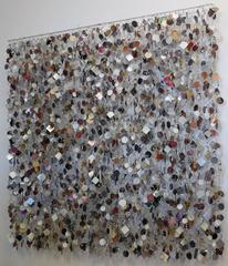 October Shimmer by John Garrett, Various Metals and Mixed Media Wall Sculpture