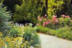 "Jeffrey Vaughn - ""Garden Path"", Photorealistic Landscape Oil Painting on Canvas, Framed"