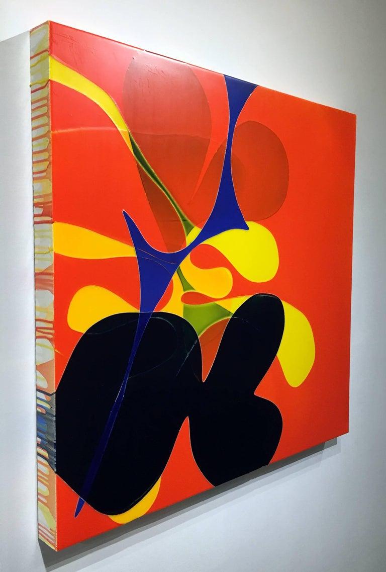 """A Kiss So Distant"", Acrylic and Polyurethane on Wood Panel"