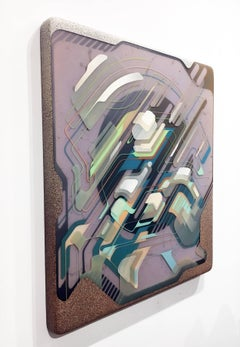 Untitled 01, Layered Epoxy Resin and Acrylic Painting on Wood
