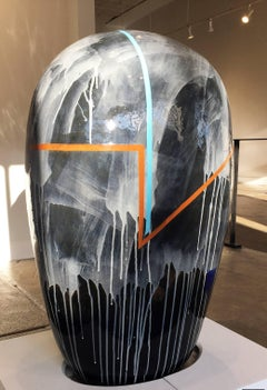 Large Ceramic Sculpture with Glaze, Dango Form 99-12-04