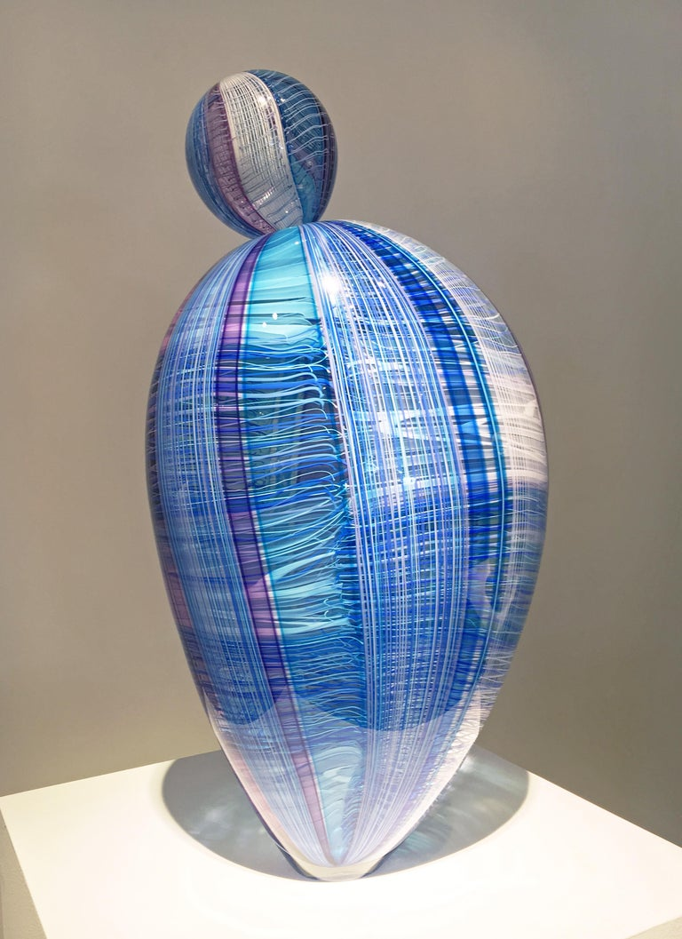 """Natalia Paloma"" Contemporary Blown Glass Sculpture"