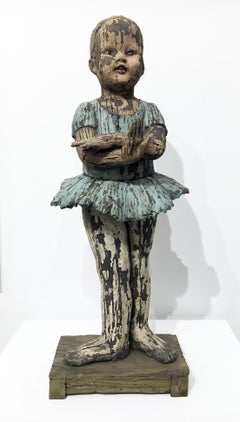 """Hand Dance"", Contemporary Figurative Ceramic Sculpture"