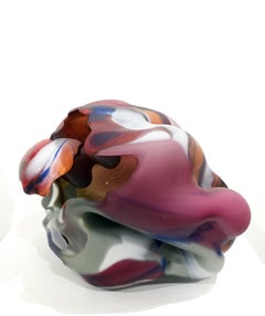 """Chico Spring Series #9"" , Blown and Hot Sculpted Glass Sculpture"