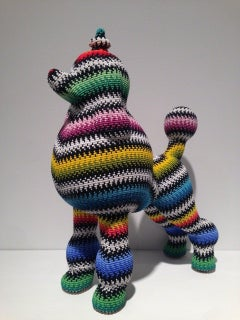 """Missoni Poodle"", Poodle Form Covered in Glass Czech Seed Beads"