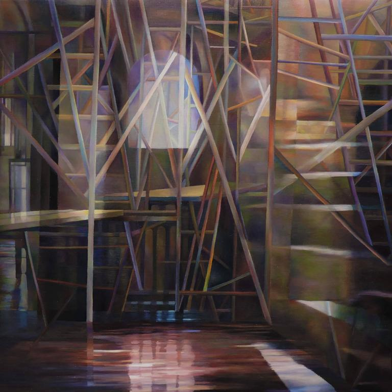 """Actual Only For One Time"" , Architectural Oil Painting on Canvas"