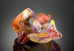 """San Jose Group 2004-06 #1"", Blown and Hand Cut Glass Sculpture"