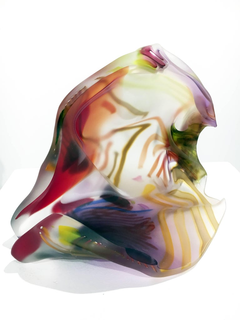 San Jose Group 2004-06 #1 by Marvin Lipofsky, Blown and Hand Cut Glass Sculpture 5