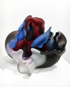 """""""Series Meisenthal 1992 #23"""", Biomorphic Blown, Carved, and Hot Sculpted Form"""