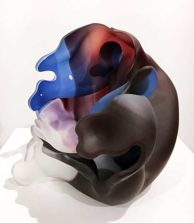 Series Meisenthal 1992 #23 by Marvin Lipofsky, Blown and Carved Glass Sculpture 5