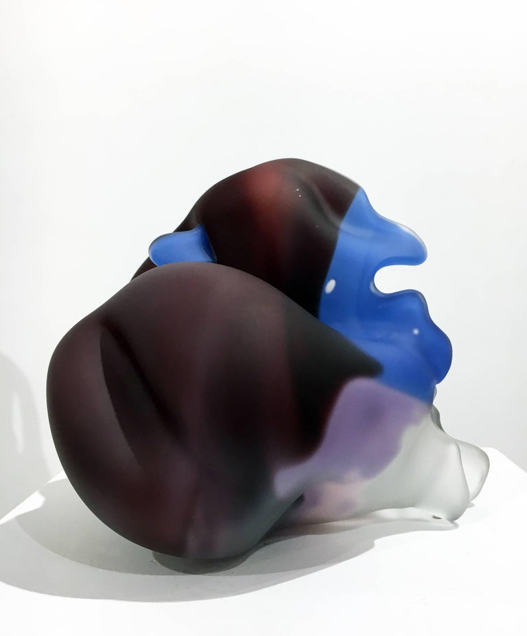 Series Meisenthal 1992 #23 by Marvin Lipofsky, Blown and Carved Glass Sculpture 7