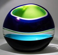 Tidal (Incalmo Orb Series) , Glass Vessel Sculpture