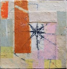 Small World 12 by Eva Isaksen, Small Collage on Canvas