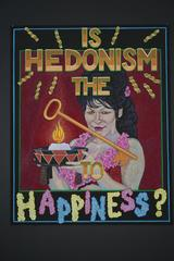 """Hedonism"", Gouache on Paper, Framed"