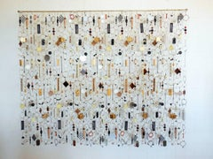 Contemporary Mixed Media Wall Sculpture, Hand Assembled Recycled Found Objects