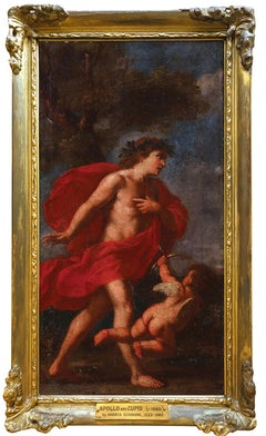 Circle of Andrea Schiavone (1522-1563) Apollo and Cupid