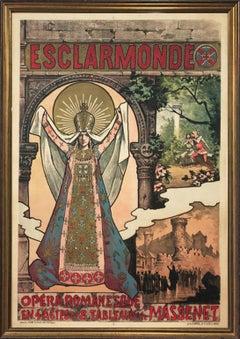 Alfred Choubrac (1853-1902) 'Esclarmonde' Opera Poster 1889