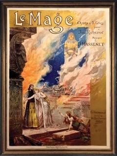 Alfredo Edel (1856-1912) 'Le Mage' 1891 Opera Poster