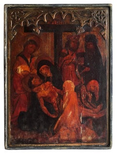 Pietà, Circa 16th Century Polish Icon