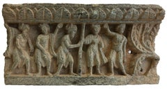 Frieze in two panels (A group of donors with a palm tree in the right corner)