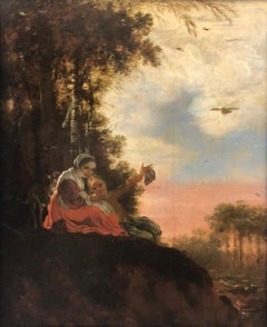 Circle of Jan Siberechts (1627-1703) - Peasant couple in a wooded landscape
