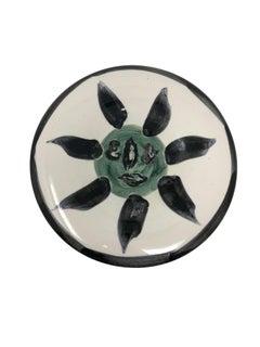Pablo Picasso Madoura Ceramic Plate - Visage no. 127, Ramié 478