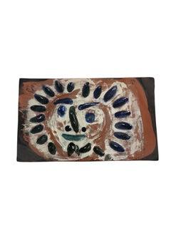 Pablo Picasso Madoura Ceramic Tile - Petit soleil, Ramié 544