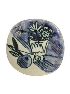 Pablo Picasso Madoura Ceramic Plaque - Bouquet à la pomme, Ramié 305