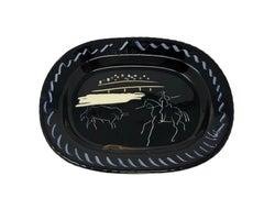 Pablo Picasso Madoura Ceramic Plate - Corrida sur fond noir, Ramié 198