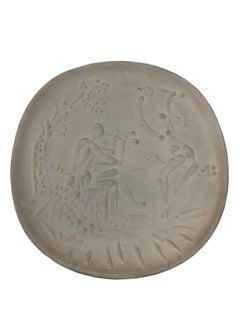 Pablo Picasso Madoura Ceramic Plate - Joueur de diaule et faune , Ramié 342
