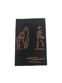 Pablo Picasso Madoura Terracotta Plaque - Femmes et toréador Ramié 541
