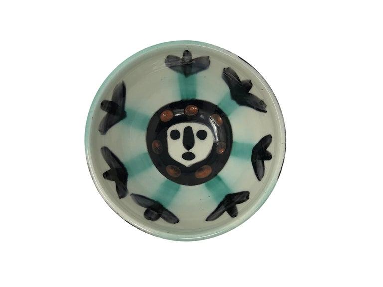 Pablo Picasso Madoura Ceramic Bowl - Visage, Ramié 290