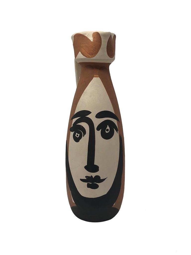 Pablo Picasso Madoura Ceramic Vase - Visage , Ramié 288 - Sculpture by Pablo Picasso