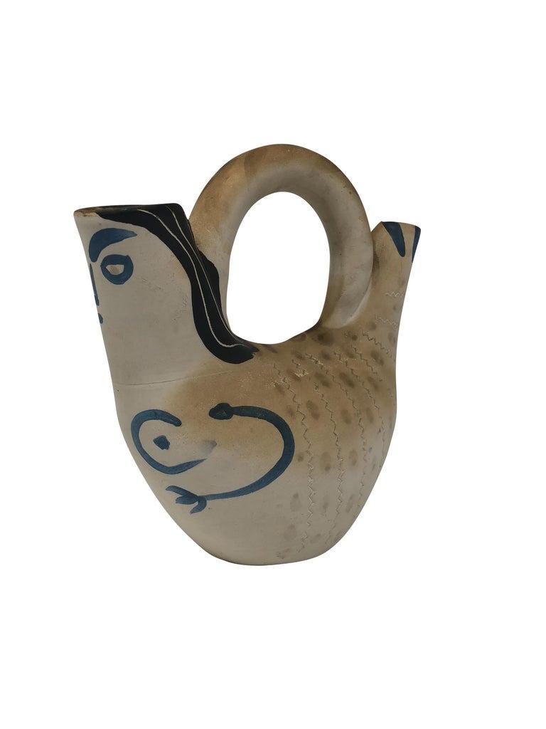 Pablo Picasso Madoura Ceramic Vessel - Figure de proue, Ramié 136 - Abstract Impressionist Sculpture by Pablo Picasso