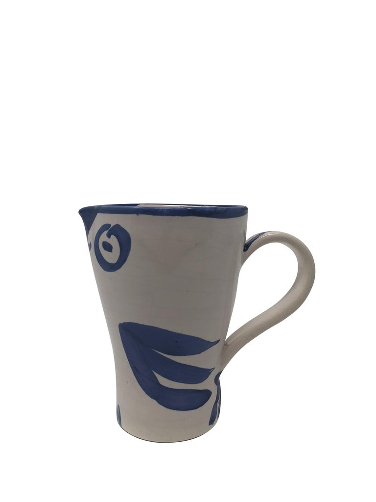 Pablo Picasso Madoura Ceramic Pitcher - Hibou, Ramié 252 - Abstract Impressionist Sculpture by Pablo Picasso