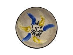 Picasso Madoura Ceramic Plate PETIT VISAGE NO. 12, Ramié 460
